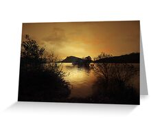 AS THE SUN SETS ON LOCH LOMOND Greeting Card