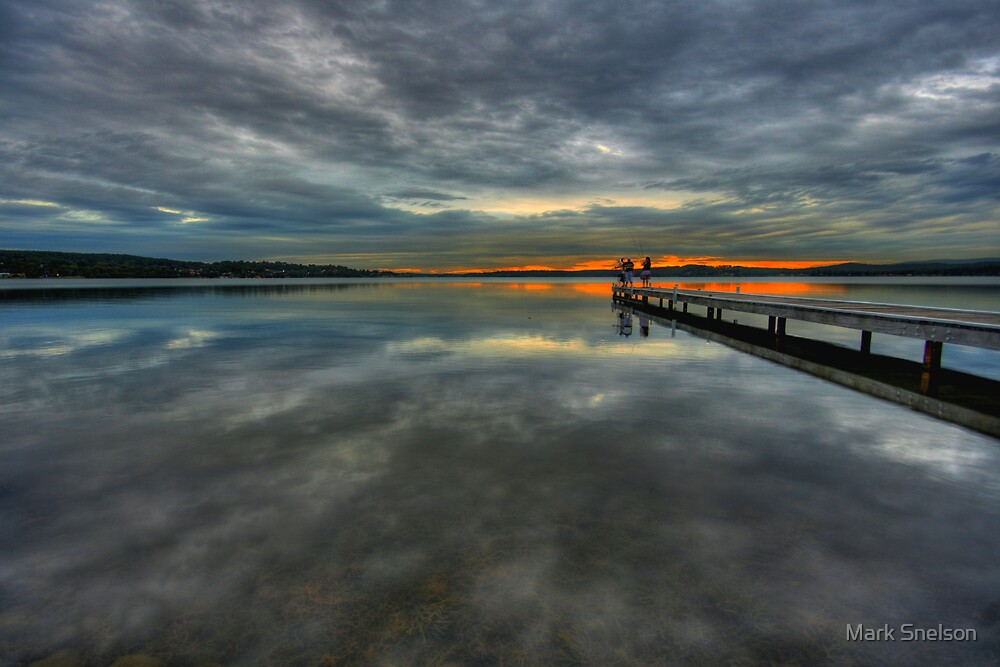 Warners Bay Reflection by Mark Snelson