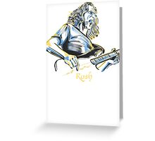 Geddy Lee From Rush Greeting Card