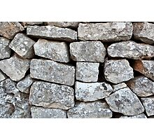 Stone wall Photographic Print