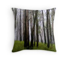 Tall trees in the Mist Throw Pillow
