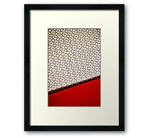 table dipped in strawberry jam Framed Print