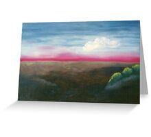 Red Horizon (Card) Greeting Card