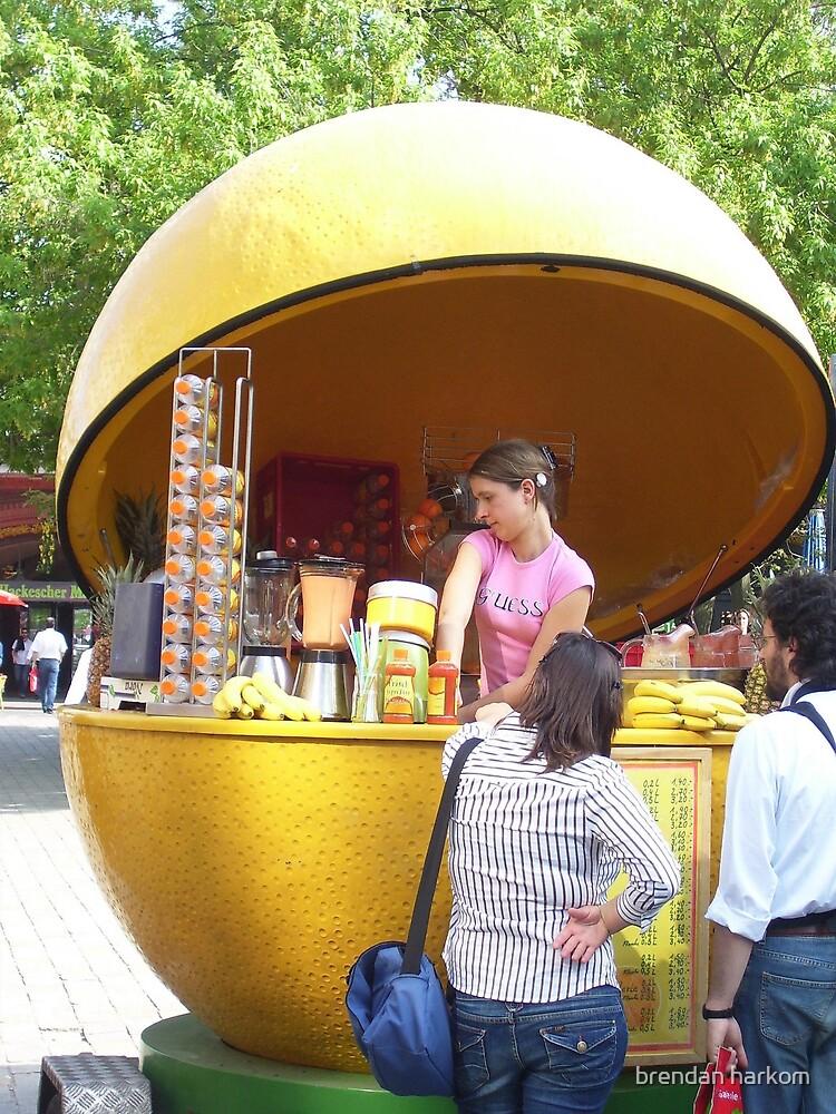 Girl In An Orange by brendan harkom