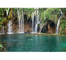 Waterfalls in Plitvice National Park Croatia Photographic Print