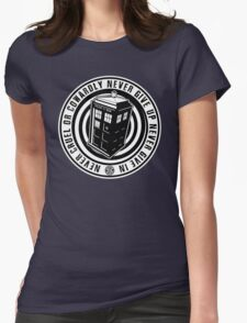 Never Cruel Or Cowardly - Doctor Who - Black TARDIS Womens Fitted T-Shirt