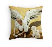 Scrounging Throw Pillow