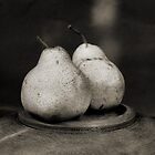 two pears by Janet Leadbeater