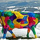 Cow-art - Gruyere - Switzerland by Arie Koene