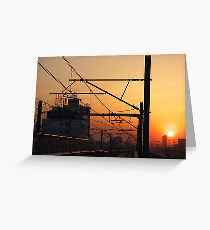 Sunset in China Greeting Card