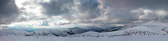 Mt.Feathertop, Mt.Buffalo, The Razorback, The Fainters, and Mt.Loch by John Barratt