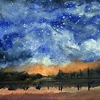 Starry Night Across The lake by Randy Sprout
