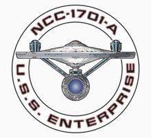 USS Enterprise Logo - Star Trek - NCC-1701-A (Movie Colour) by createdezign