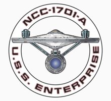 USS Enterprise Logo - Star Trek - NCC-1701-A (Movie Colour) by createdezign