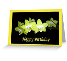 Yellow Orchids Framed (Birthday Card) Greeting Card