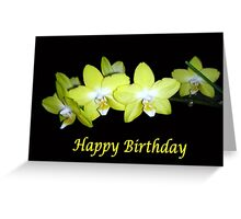 Yellow Orchids (Birthday Card) Greeting Card