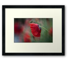 One minute of silence ...... Framed Print