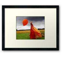 Festival Stilt Walker Framed Print