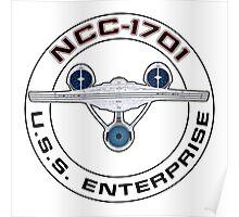 USS Enterprise Logo - Star Trek - NCC-1701 (Alternate Universe) Poster