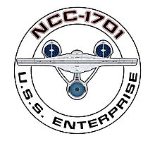 USS Enterprise Logo - Star Trek - NCC-1701 (Alternate Universe) Photographic Print