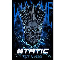 Static Skull Photographic Print