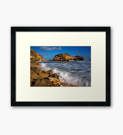 Portsea Back Beach Framed Print