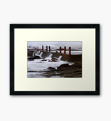 Seaside pool at Eden Framed Print