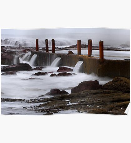 Seaside pool at Eden Poster