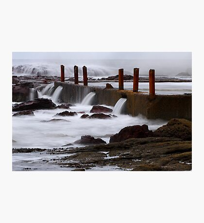 Seaside pool at Eden Photographic Print