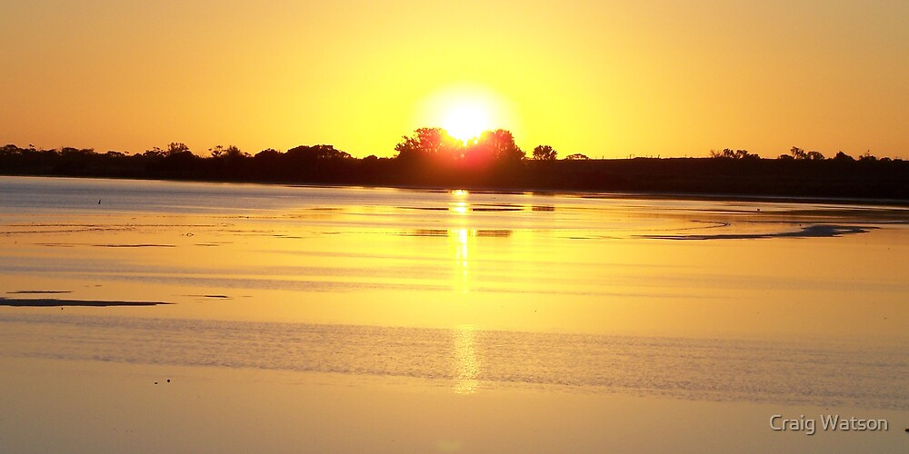 Sunset across Lake Sunday, southern Yorke Peninsula, South Australia by Craig Watson