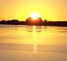 Sunset across Lake Sunday, southern Yorke Peninsula, South Australia by Craig Watson