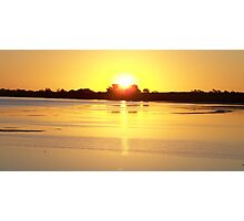 Sunset across Lake Sunday, southern Yorke Peninsula, South Australia Photographic Print