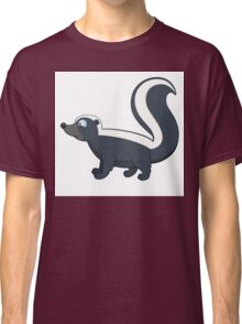 Friendly smiling cartoon skunk standing Classic T-Shirt