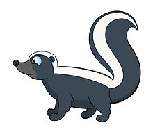 Friendly smiling cartoon skunk standing Photographic Print