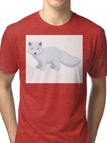 Cute cartoon arctic fox Tri-blend T-Shirt