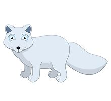 Cute cartoon arctic fox by berlinrob