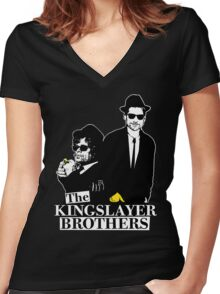 'The Kingslayer Brothers' Women's Fitted V-Neck T-Shirt