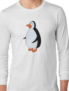 Cute smiling cartoon penguin standing Long Sleeve T-Shirt
