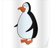 Cute smiling cartoon penguin standing Poster