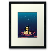 Girl in water Framed Print