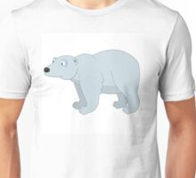 Adorable cartoon polar bear Unisex T-Shirt