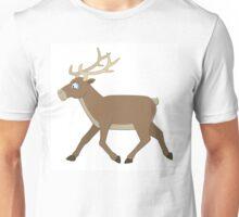 Cute cartoon reindeer walking Unisex T-Shirt