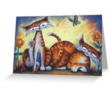 Two Tails, Bath Time Greeting Card