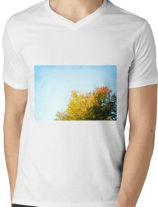 Autumn Trees Mens V-Neck T-Shirt