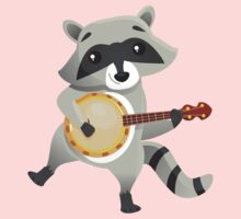 Funny raccoon playing the banjo One Piece - Long Sleeve