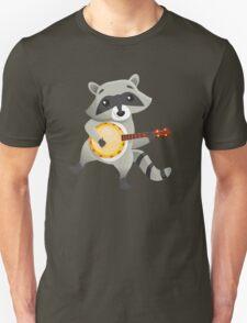 Funny raccoon playing the banjo Unisex T-Shirt