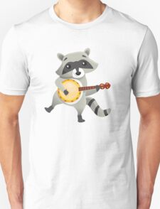 Funny raccoon playing the banjo T-Shirt