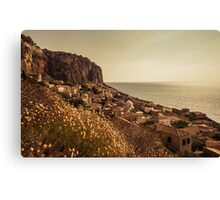 The Rock of Monemvasia in southern Greece Canvas Print