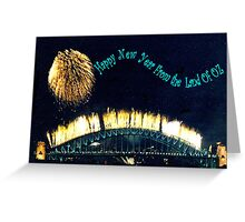 HAPPY NEW YEAR FROM THE LAND OF OZ Greeting Card