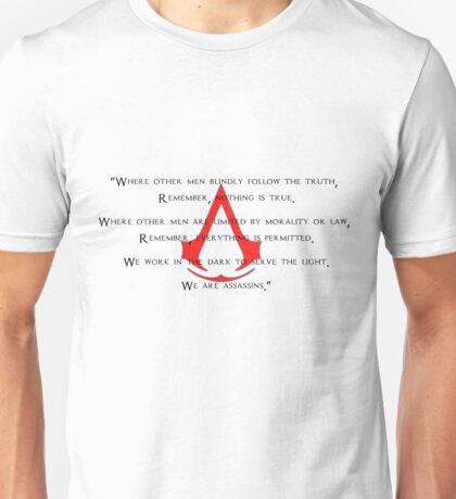 Assassin's Creed - Logo & Full Quote II Unisex T-Shirt